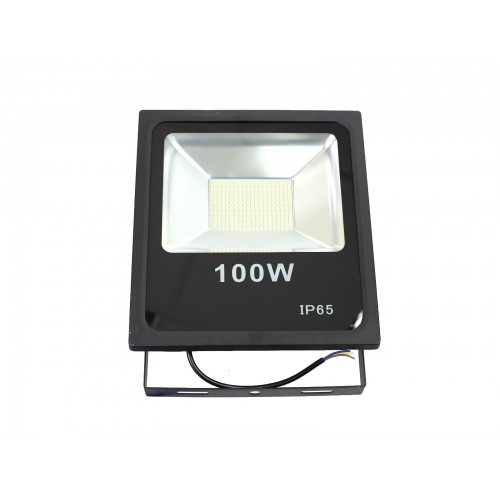 Proyector led slim 100W exterior IP65 SMD5730 6000K negro