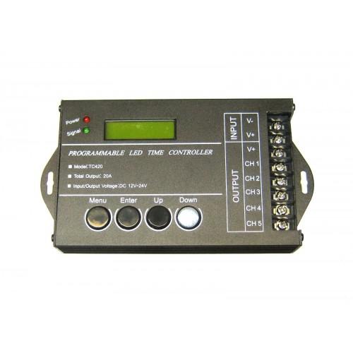 Controlador tira led programable 12V 24V 5 canales 4A