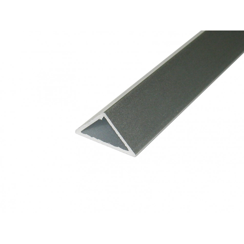 Perfil aluminio tira led triangular 45º