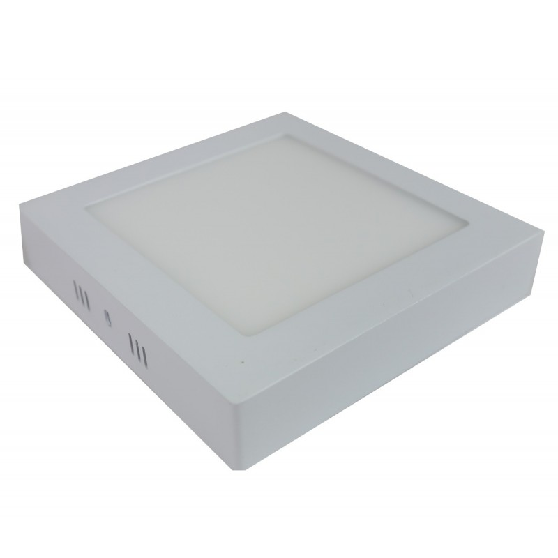 Downlight led 6W 4200ºK cuadrado superficie blanco