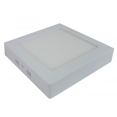Downlight led 12W 4200ºK cuadrado superficie blanco