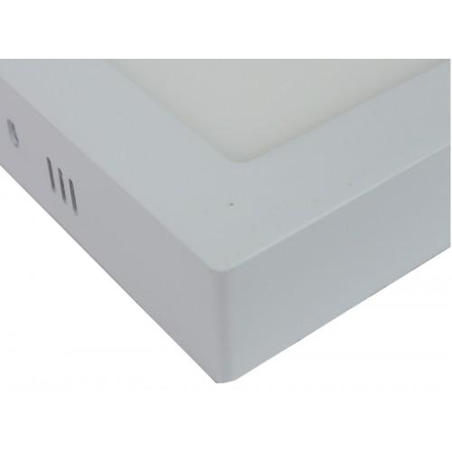 Downlight led 12W 4200ºK cuadrado superficie blanco