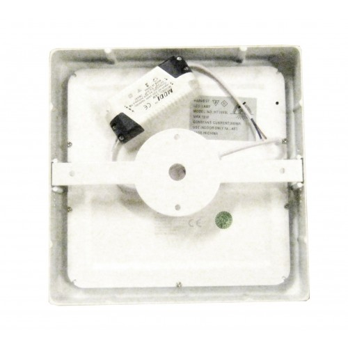 Downlight led 18W 4000ºK cuadrado superficie blanco