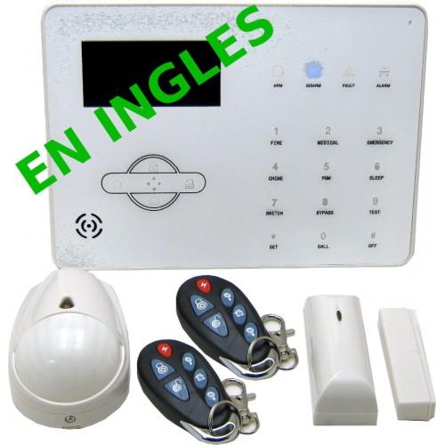 KIT ALARMA hogar y oficina VIA RADIO GPRS PSTN+GSM,  inglés