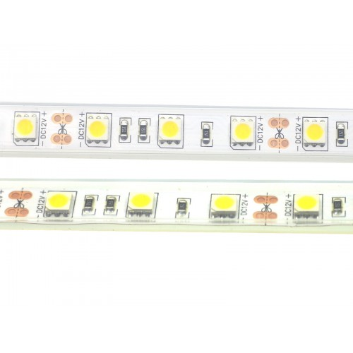 Tira led 12V  3000ºK IP67 60leds SMD5050 metro
