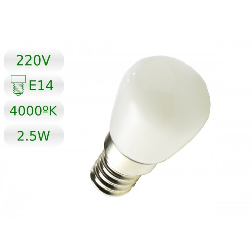 Bombilla LED E14 miniatura 2,5W blanco natural 4000ºK
