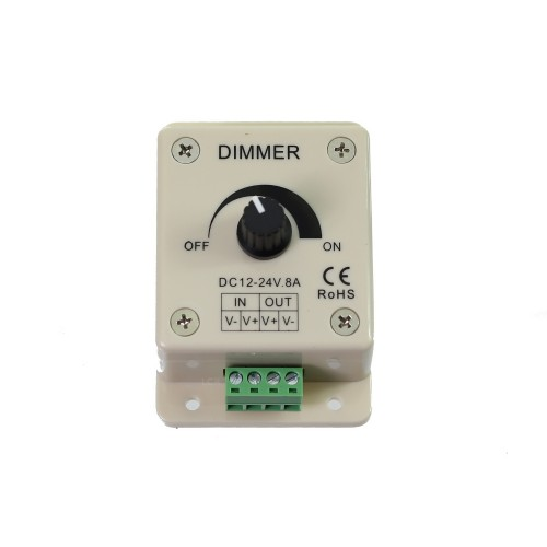 Regulador dimmer tira led monocolor 1 canal 12V-24V 8A