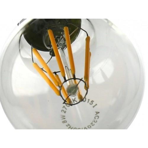 Bombilla led A60 Filamento 8W rosca E27 Blanco 2700K