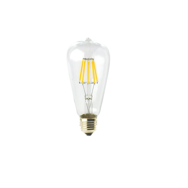Bombilla led ST64 Filamento 6W E27 blanca 2700K