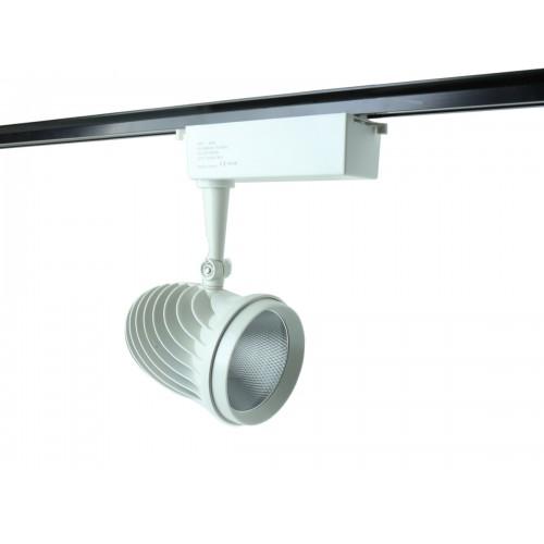 Foco led de carril de 40W COB 6000ºK con carcasa blanca