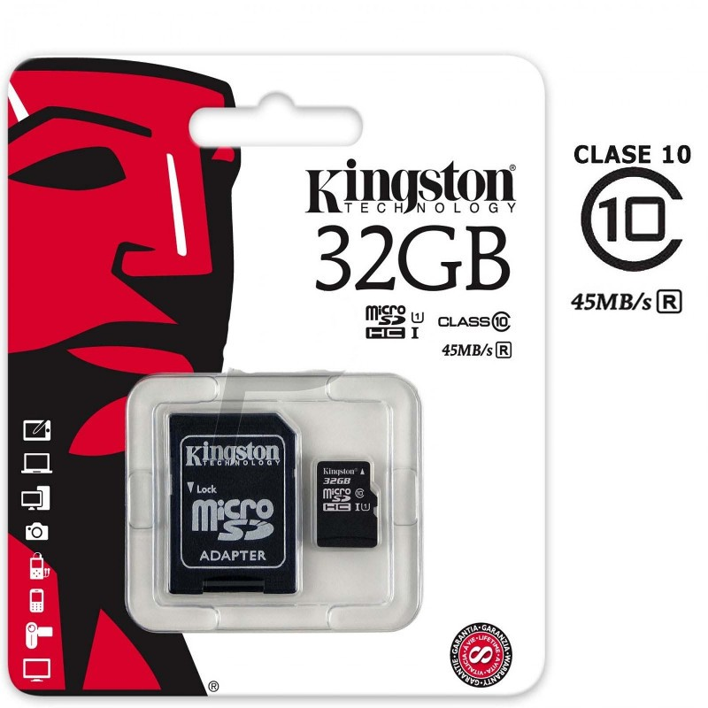 Tarjeta MicroSD 16Gb class 10 SDHC