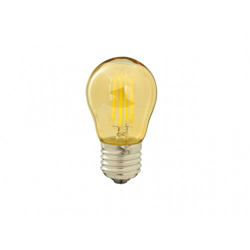 Bombilla G45 filamento LED 4W dorada rosca E27 Blanco 6000K