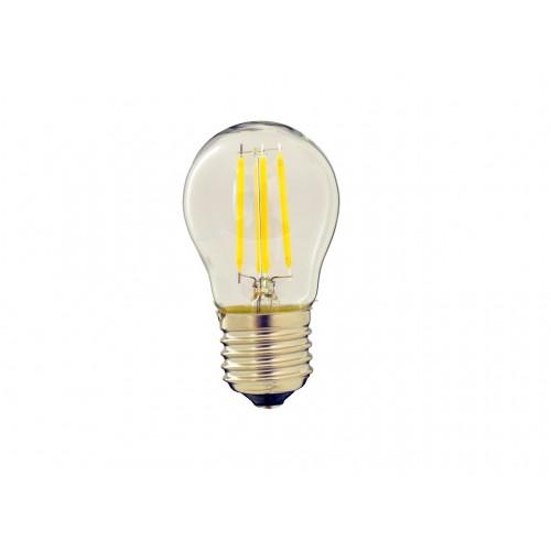 Bombilla filamento LED 4W G45 rosca E27 Blanco calido 2700K