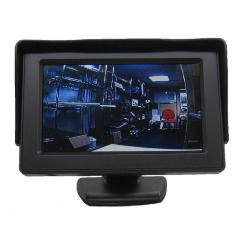"""Monitor 4,3"""" para 2 cámaras. 12VDc"""