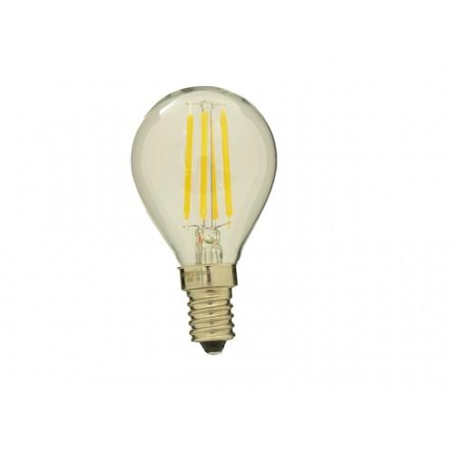 Bombilla G45 filamento LED 4W rosca E14 Blanco cálido 2700K