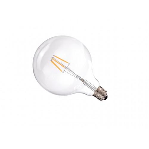 Bombilla led G125 Filamento 6W E27 blanca 2700K dorada