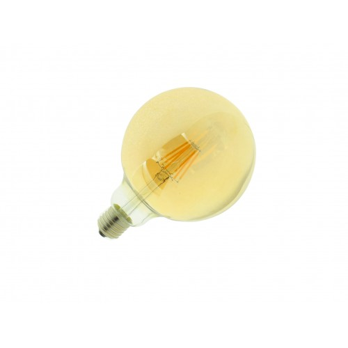 Bombilla led G125 Filamento 6W E27 blanca 2700K dorada
