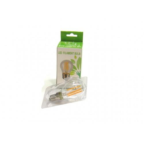 Bombilla led G45 filamento 4W rosca E14 Blanco 2700ºK