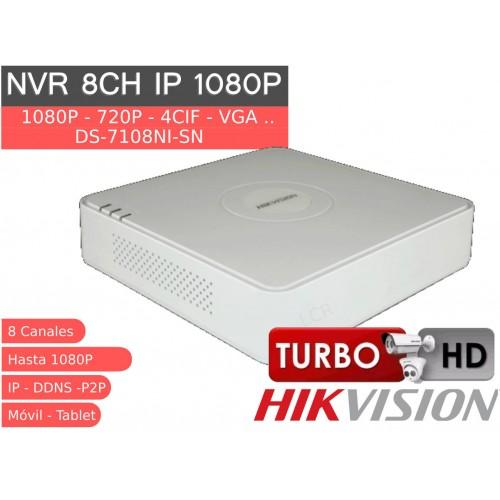 Grabador IP 8 canales 1080P 50Mb HK DS-7108NI-SN
