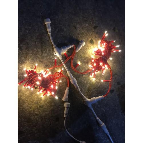 Guirnalda led microbombilla 4mt 60 leds exterior IP65 cable rojo