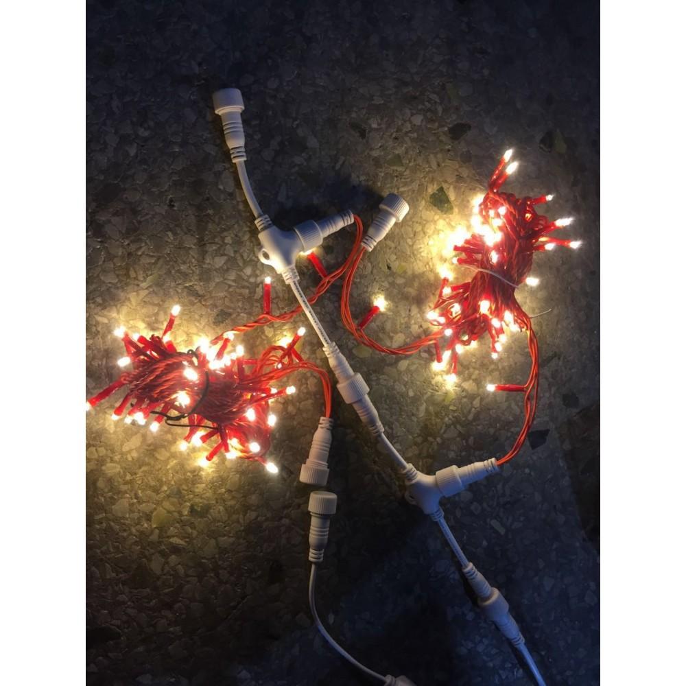 guirnalda led mt leds exterior ip cable rojo