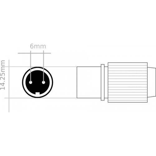 Enchufe 220V conector estanco 11,5mm exterior guirnalda microbombillas