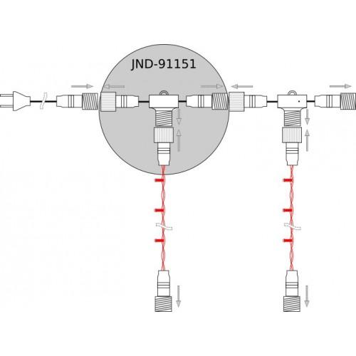 Conector en T 11,5mm para guirnalda microbombillas