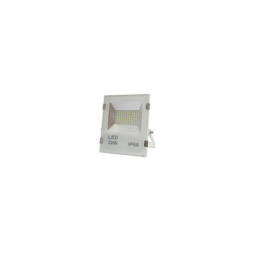 Proyector led slim 50W exterior IP65 SMD5730 blanco 6000K carcasa blanca 110l/w