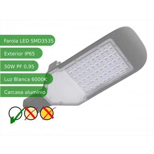 Farola  LED 50W 6000K IP65 exterior alumbrado público SMD3535
