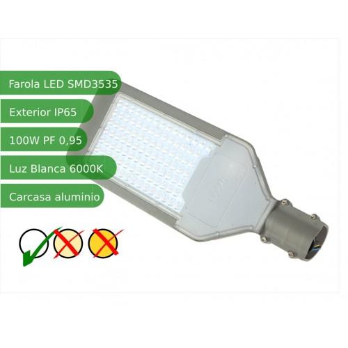 Farola  LED 100W 6000K IP65 exterior alumbrado público SMD3535