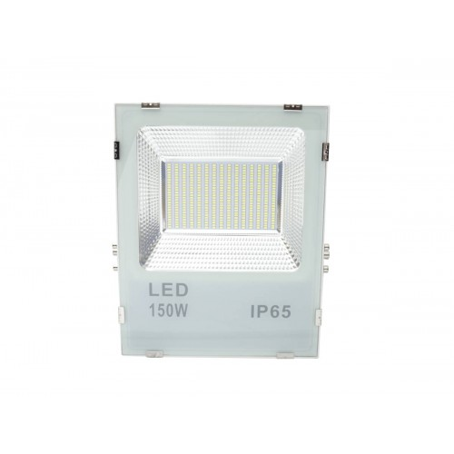 Proyector led slim 150W exterior IP65 SMD5730 blanco 6000K carcasa blanca 110l/w