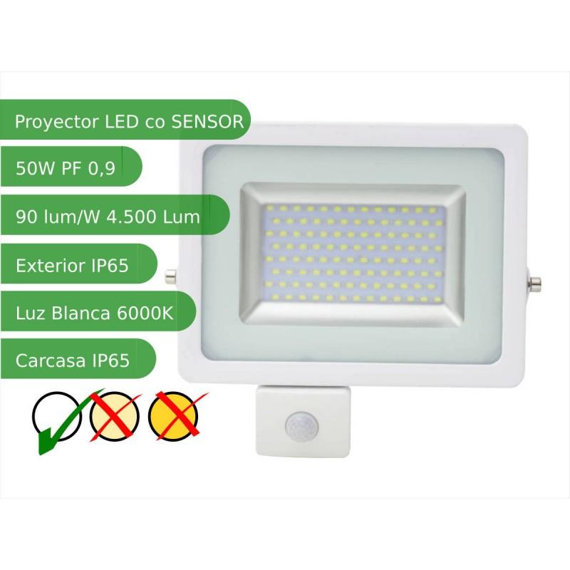 65e1c3d53d244 Proyector led sensor 50W Slim SMD5730 blanco 6000ºK exterior IP65
