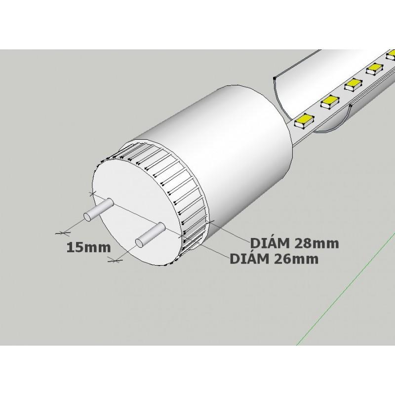 Tubo led 18W 120 cm 4200K  T8 220V cristal PF0.95 caja 30 uds,