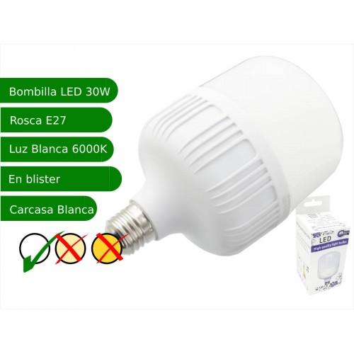 Bombilla LED 30W rosca E27 luz 6000ºK blanco frio