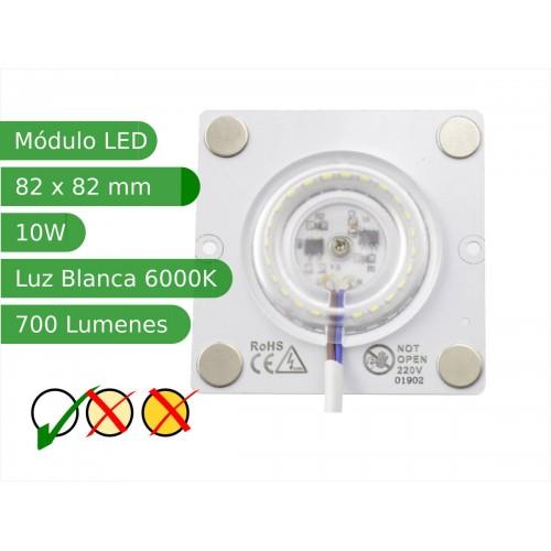 Modulo led con imanes 10W 120º SMD3030 Blanco 6000K interior IP40 regulable