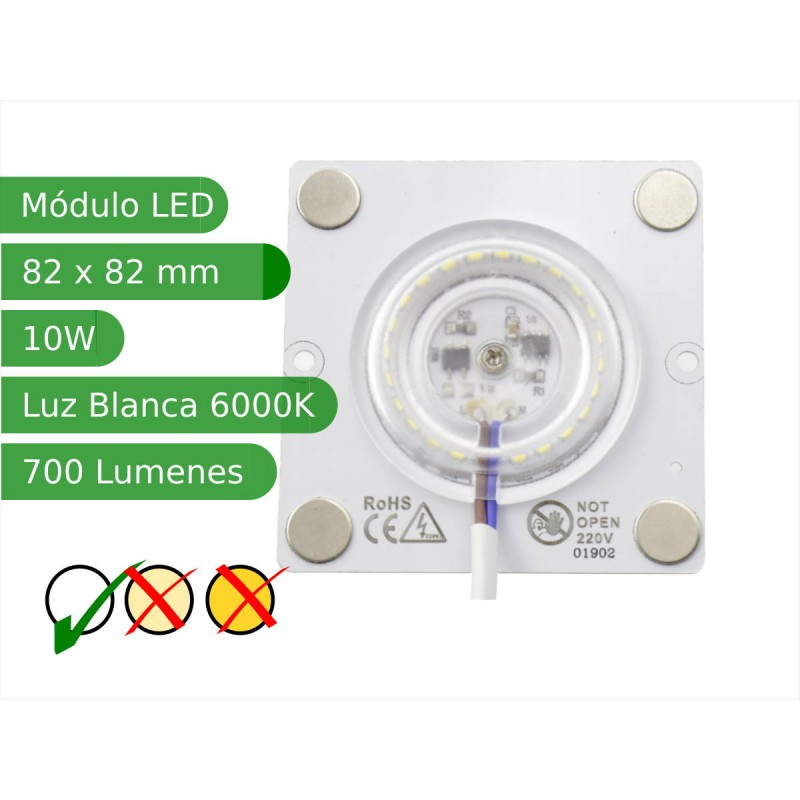 Modulo led con imanes 10W 120º SMD3030 Blanco 6000K interior IP40 regulable