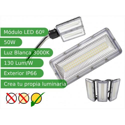 Modulo led 50W 60º SMD3030 Blanco 3000K exterior IP66 130 lm/W
