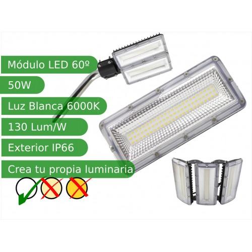Modulo led 50W 120º SMD3030 Blanco 6000K exterior IP66 130 lm/W