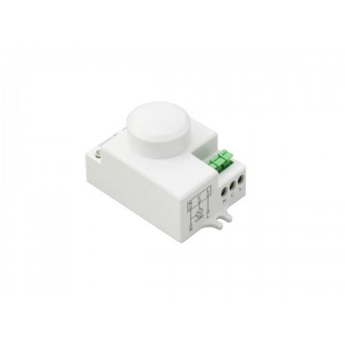 Sensor de presencia temporizado microondas y lumínico para led