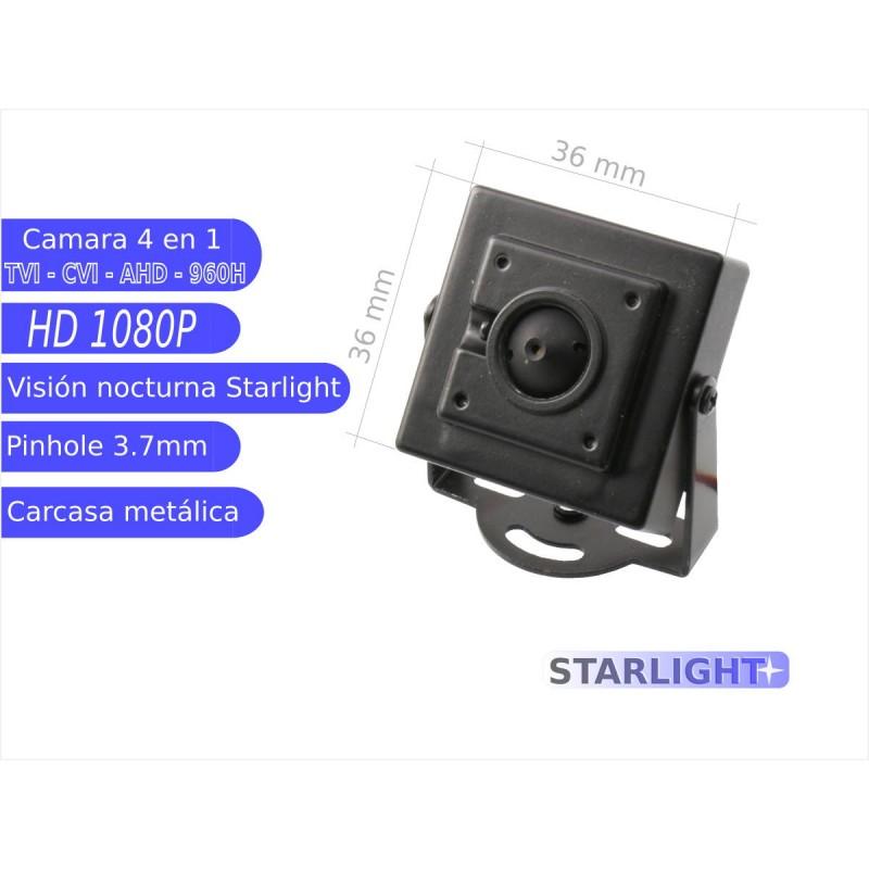 Mini cámara pinhole STARLIGHT 4 en 1 1080P  óptica 3,7 mm