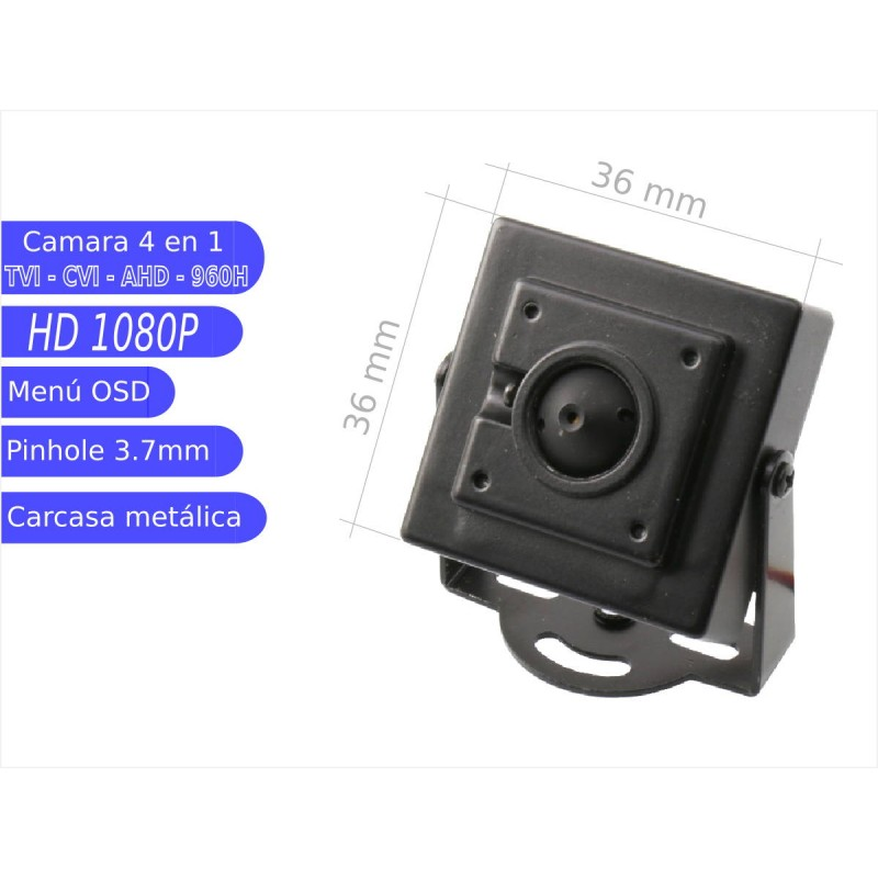 Mini cámara pinhole 4 en 1 1080P  óptica 3,7 mm