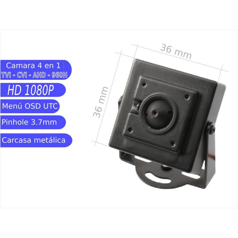 Mini cámara pinhole 4 en 1 1080P  óptica 3,7 mm UTC