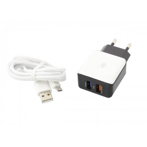 Cargador USB 2,1A alta potencia s salidas y cable