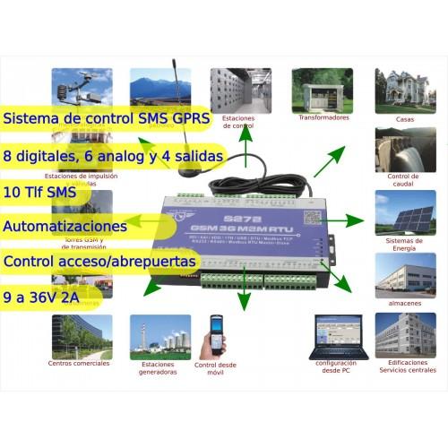 Sistema Control Remoto, Alarmas Analógicas Y Digitales 4 Salidas