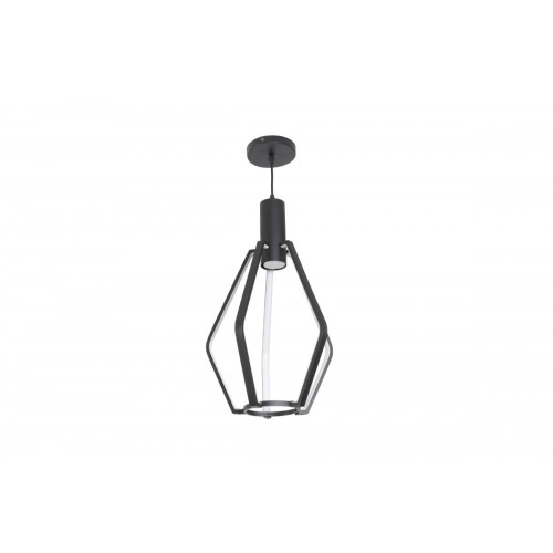 Lámpara LED colgante moderna negra 25W + GU10