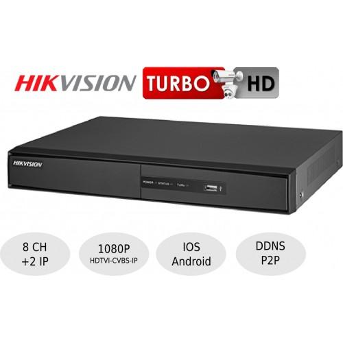 Videograbador 8 Ch 1080p HDTVI Hikvison DS-7208HQHI-F1N
