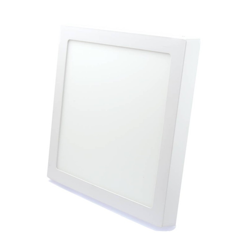 Downlight led 24W 3000ºK cuadrado superficie blanco