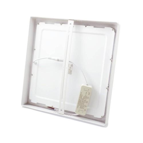 Downlight led 24W 4200ºK cuadrado superficie blanco