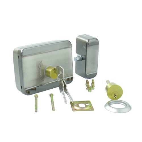 Cerradura electro mecánica superficie con llaves 12V