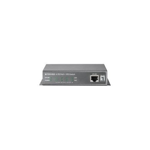 Switch 4 puertos POE + 1 puerto uplink. Ethernet 10/100